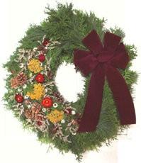 "22"" Cedar-Pine Wreaths-36"